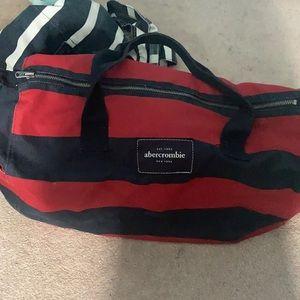 2/$25 Abercrombie & Fitch Striped Duffel Bag